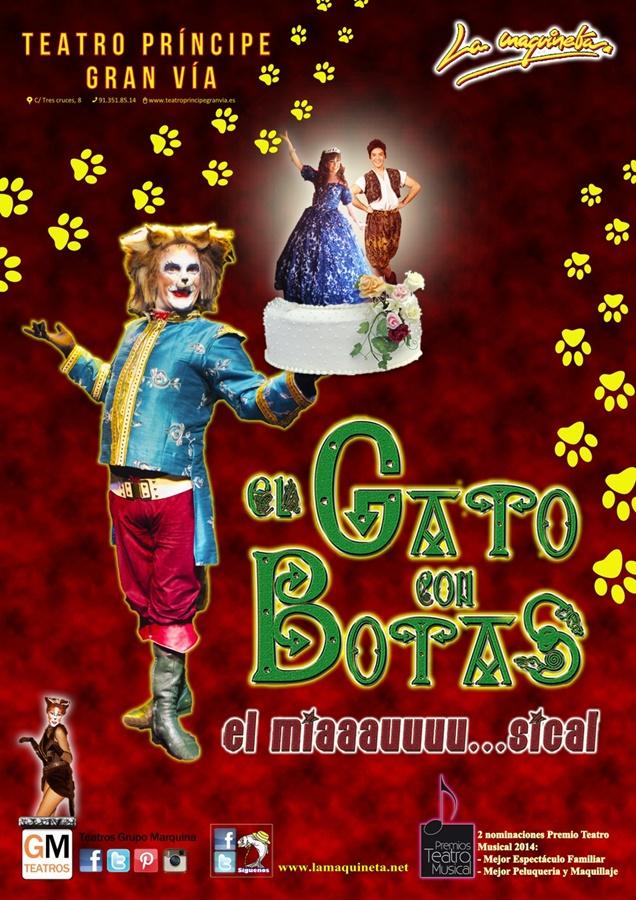 El gato con botas en el teatro pr ncipe gran v a madrid Teatro principe gran via