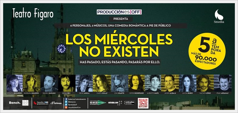LOS MIÉRCOLES NO EXISTEN en el Teatro Figaro