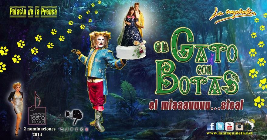 El gato con botas el miaaauuu sical madrid es teatro Teatro principe gran via