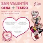 Los Teatros Luchana celebra San Valentín con Cena+Teatro
