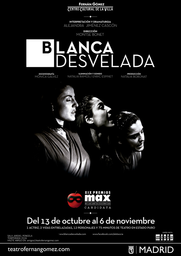 BLANCA DESVELADA en el Teatro Fernán Gómez