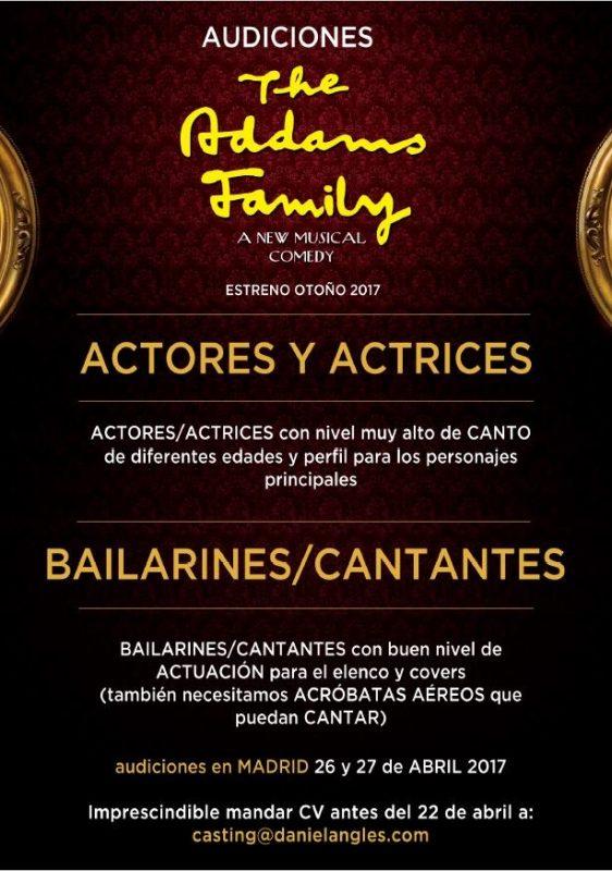 Audiciones para el musical LA FAMILIA ADDAMS