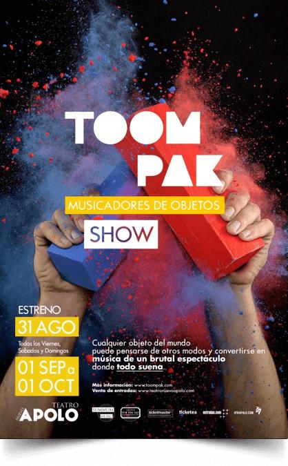 TOOMPAK SHOW Musicadores de objetos en el Teatro Nuevo Apolo