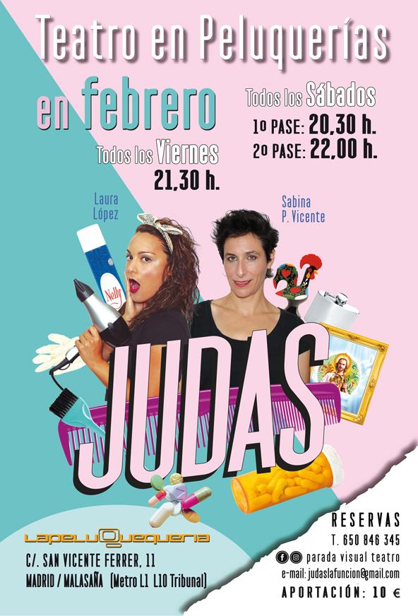 JUDAS, teatro en Peluquerías