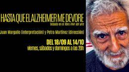 HASTA QUE EL ALZHEIMER ME DEVORE (BASADA EN SU LIBRO VIVIR DEL AIRE) en la Sala Mirador