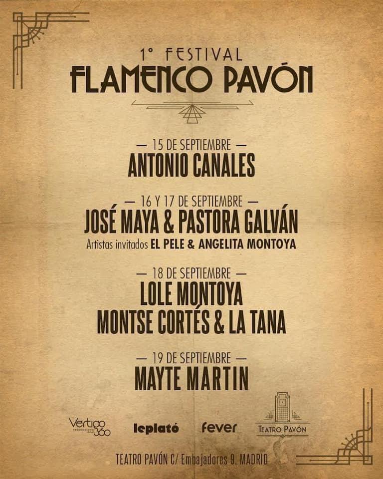 FESTIVAL FLAMENCO PAVÓN en el Teatro Pavón - Madrid Es Teatro