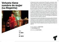 VETUSTA TIENE NOMBRE DE MUJER en el Teatro Quique San Francisco